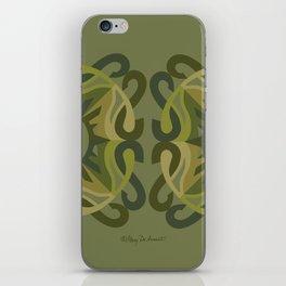 Safe Mandala x2 - Olive Green iPhone Skin
