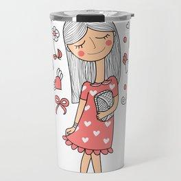 Dreaming girl  Travel Mug