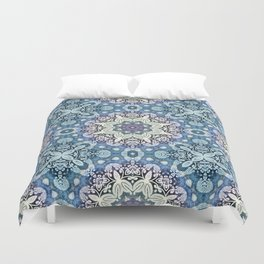 winter mandala pattern Duvet Cover