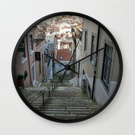 Lisbon stairs Wall Clock