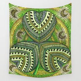 Patterned Shamrock Wall Tapestry