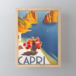 Capri Italy Island Wall Art Poster Print Placard Home Room Decor Artwork Gift for Men Women Him Her Framed Mini Art Print