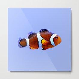 Clown fish low poly. Metal Print