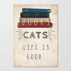 Books&Cats Canvas Print