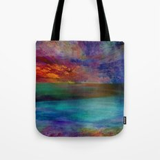 Ocean at Sunset Tote Bag