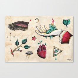 Flash Sheet #1 Canvas Print