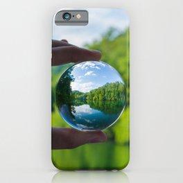 Lensball Landscape, Dale Hollow iPhone Case