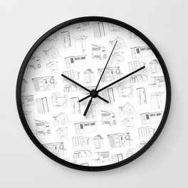 COVER, Contain, Compost - 3 of 3 Wall Clock