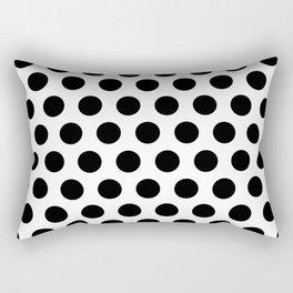Black and White Polka Dots 771 Rectangular Pillow