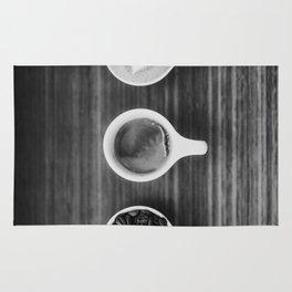 Three Coffee (Black and White) Rug
