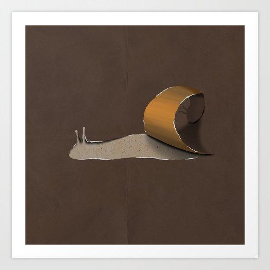 snail brown Art Print