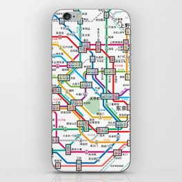Tokyo Subway Map iPhone Skin
