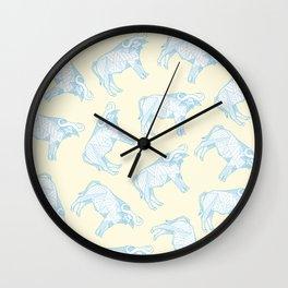 African Animals - Buffalo Yellow Wall Clock
