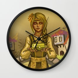 The Golden Girl Wall Clock