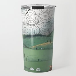 Girl And Fly Birds Travel Mug