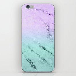 Unicorn Mermaid Girls Glitter Marble #1 #decor #art #society6 iPhone Skin