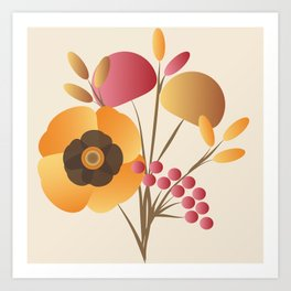 Memorable Florals Art Print