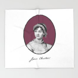 Authors - Jane Austen Throw Blanket