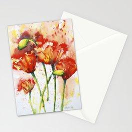 Lush Orange Spring Poppies Stationery Cards