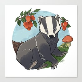 Autumnal Badger Canvas Print