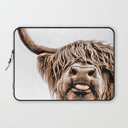 Funny Higland Cattle Laptop Sleeve
