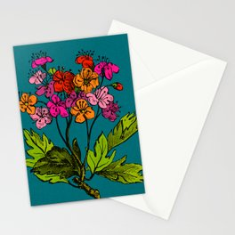 Antique Floral in Bright Spring Hues Stationery Cards