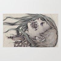 gore Area & Throw Rugs featuring Gore Girl by Savannah Horrocks
