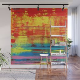 Sunny Sunset, Colorful Abstract Art Wall Mural