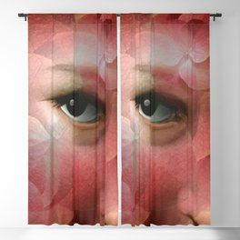 """Lady in autumn rose"" Blackout Curtain"