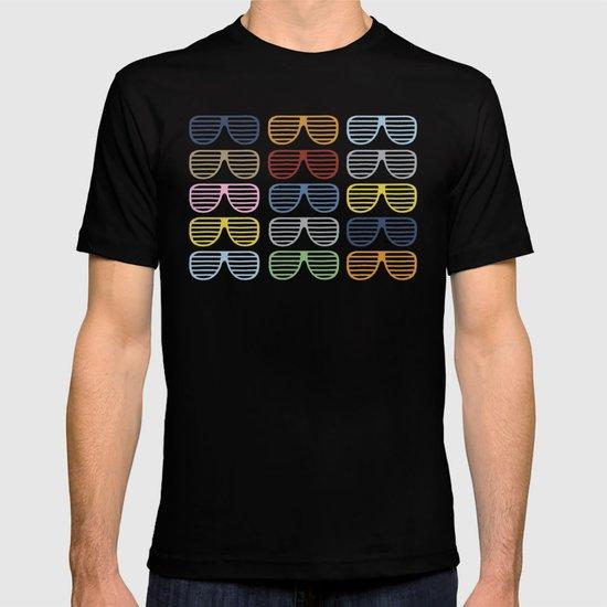 Rainbow Shutter Shades at Night T-shirt