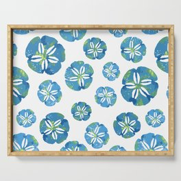 Blue Sand Dollars Serving Tray