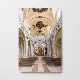 Central Nave - St. Justin Cathedral (Chieti, Italy) Metal Print