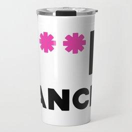 F**K Cancer (Pink Asterisks) Travel Mug