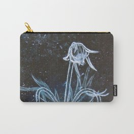 Prairie Smoke Flower in Space Carry-All Pouch