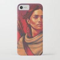 katniss iPhone & iPod Cases featuring Katniss by JenHoney