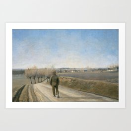 Laurits Andersen Ring - Road with Boy Art Print