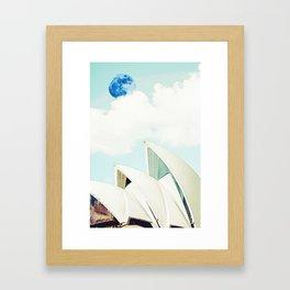 Sydney, Australia Travel Poster in watercolor Framed Art Print