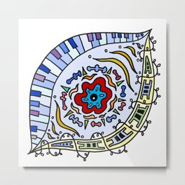 Pop Eye (Red) Metal Print