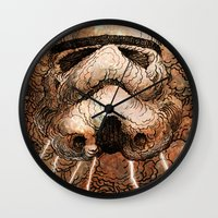 storm Wall Clocks featuring Storm by Eric Fan
