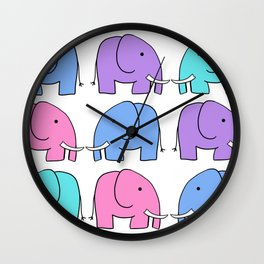 (Eleph)ants Go Marching Wall Clock