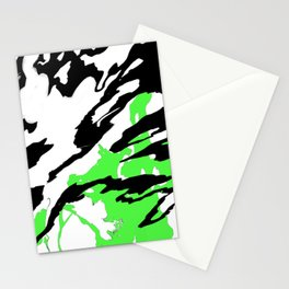 Green and Black Stationery Cards