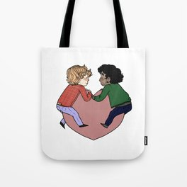Enjolras and Grantaire in love Tote Bag