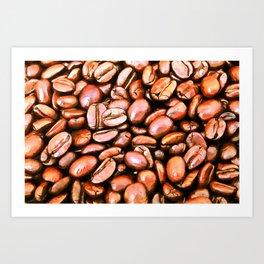 roasted coffee beans texture acrsat Art Print