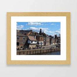 Kings Staith York river ouse Framed Art Print