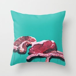 Meat Time Throw Pillow