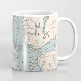 Vintage Map of Norway and Sweden (1893) Coffee Mug