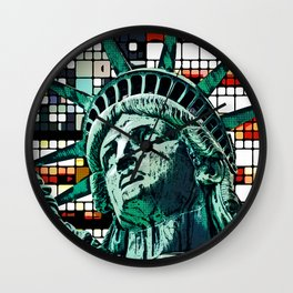 Patriotic Statue of Liberty Wall Clock