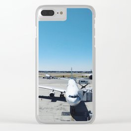 Airplane, Airport and Blue Sky Adventures Clear iPhone Case