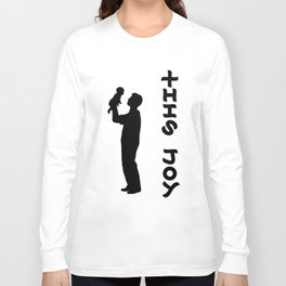 THIS JOY ambigram (turn your head 90 degrees :) Long Sleeve T-shirt