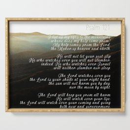 Psalm 121 Serving Tray